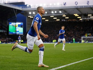 Richarlison celebrates scoring Everton's opener against Chelsea in the Premier League on March 17, 2019