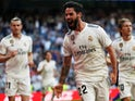 Isco celebrates scoring for Real Madrid against Celta Vigo in La Liga on March 16, 2019.