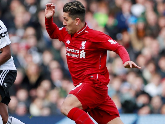 Roberto Firmino in action for Liverpool on March 17, 2019