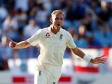 Stuart Broad in action for England on February 10, 2019
