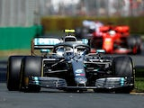 Mercedes' Valtteri Bottas in action during practice at the Australian Grand Prix on March 15, 2019