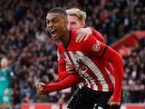 Southampton's Yan Valery celebrates scoring on March 9, 2019