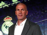 Zinedine Zidane being unveiled as Real Madrid manager for a second time on March 11, 2019