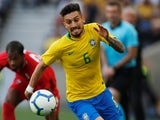 Alex Telles in action for Brazil on March 23, 2019
