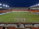 General view inside Blackpool's Bloomfield Road from January 2019