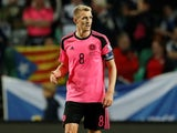 Darren Fletcher pictured for Scotland in October 2017