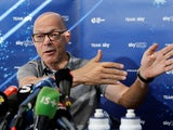 Dave Brailsford talks to the media on July 23, 2018