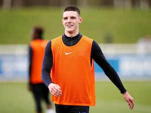Declan Rice during an England training session on March 19, 2019