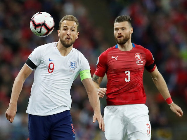 England captain Harry Kane in action against Czech Republic on March 22, 2019