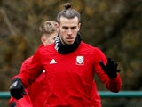 Gareth Bale during a Wales training session on March 19, 2019