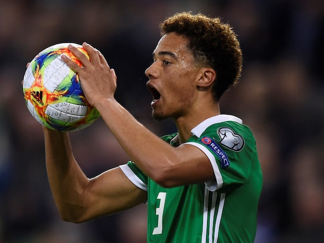 Jamal Lewis in action for Northern Ireland on March 21, 2019