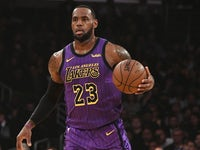 LeBron James in action for LA Lakers on March 22, 2019
