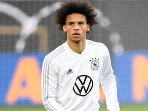 Leroy Sane during a Germany training session on March 19, 2019