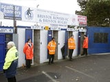 General view outside Bristol Rovers' Memorial Stadium from 2012