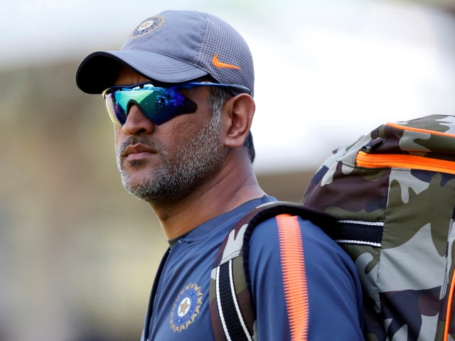 MS Dhoni ahead of net session for India in 2018.