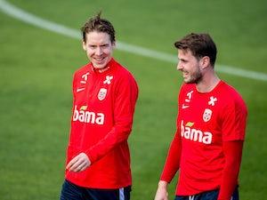 Norway pair Stefan Johansen and Havard Nordtveit in training in March, 2019