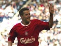 Michael Owen playing for Liverpool
