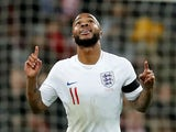 England's Raheem Sterling celebrates scoring against Czech Republic on March 22, 2019
