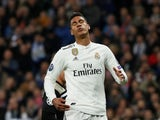 Raphael Varane in action for Real Madrid during a Champions League match in March 2019