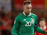 Richard Keogh in action for Republic of Ireland on October 16, 2018