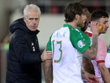 Ireland manager Mick McCarthy and Jeff Hendrick on March 23, 2019