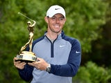 Rory McIlroy celebrates winning the Players' Championship on March 17, 2019