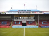 General view of Scunthorpe United's Glanford Park from February 2015