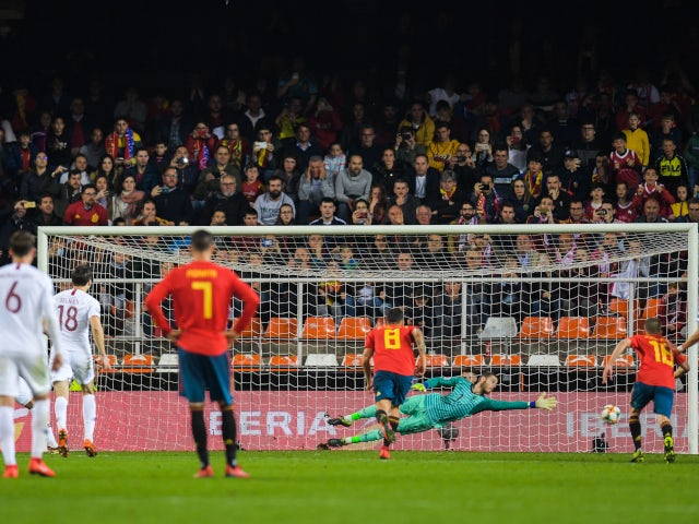 Joshua King converts a penalty to equalise for Norway against Spain on March 23, 2019