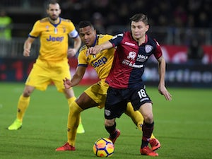 Nicola Barella picture during Cagliari's Serie A clash with Juventus in January 2019