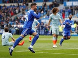 Cardiff City's Victor Camarasa celebrates scoring against Chelsea in the Premier League on March 31, 2019