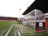 General view of Cheltenham Town's Whaddon Road from 2014