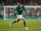 Republic of Ireland's Conor Hourihane celebrates scoring their first goal against Georgia on March 26, 2019