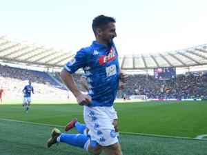 Dries Mertens celebrates scoring for Napoli on March 31, 2019