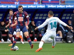 Eibar midfielder Joan Jordan in action against Real Madrid in March, 2018.