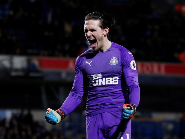 Newcastle United goalkeeper Freddie Woodman pictured during an FA Cup tie in January 2019