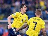 Kenny McLean celebrates scoring for Scotland on March 24, 2019