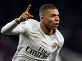 Kylian Mbappe scores for PSG on March 31, 2019