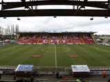 General view of Lincoln City's Sincil Bank from 2017