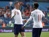 Ross Barkley celebrates scoring his second and England's third on March 25, 2019