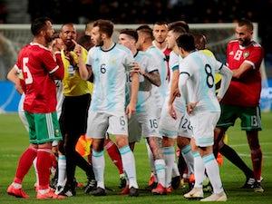 "<span class=""p2_live"">LIVE</span> Morocco 0-1 Argentina"