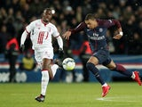 Lille midfielder Boubakary Soumare pictured in action with Kylian Mbappe during a Ligue 1 match in December 2017
