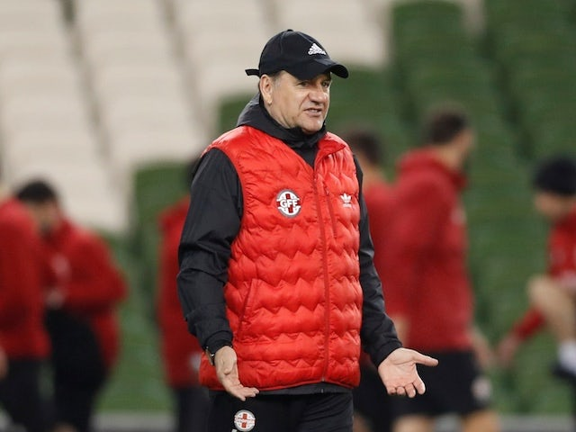 Georgia coach Vladimir Weiss pictured on March 25, 2019