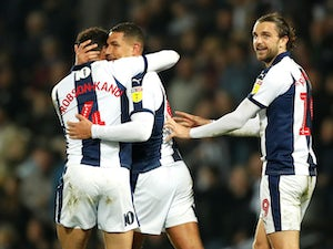 Jake Livermore celebrates getting the winner for West Bromwich Albion on March 29, 2019