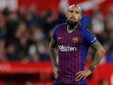 Arturo Vidal pictured for Barcelona in January 2019