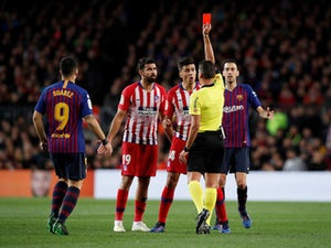Diego Costa sees red as Atletico lose against Barcelona