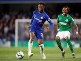 Chelsea's Callum Hudson-Odoi on the ball against Brighton & Hove Albion in the Premier League on April 3, 2019.