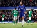 Chelsea's Ruben Loftus-Cheek celebrates scoring against Brighton & Hove Albion in the Premier League on April 3, 2019.
