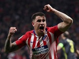 Atletico Madrid defender Jose Gimenez celebrates scoring against Juventus in February 2019
