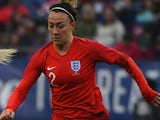 Lucy Bronze in action for England Women on March 2, 2019