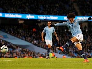 Manchester City winger Leroy Sane scores against Cardiff on April 3, 2019